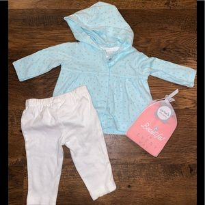 Carter's 3 Piece Layette~3 mos~Mint/Pink NWOT